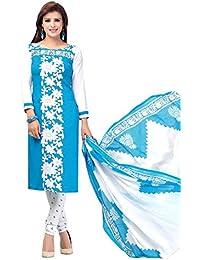 A K Designer Women's Chiffon Dress Material (Mehak10001_Free Size_Blue)