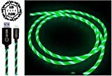 NEU 2018 GRÜN LED-FLOW IPHONE \ IPAD \ IPOD APPLE USB-KABEL BELEUCHTETES LADEKABEL LED-Telefonladekabel USB zum IPhone FLUSSKABEL