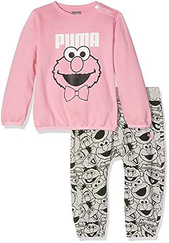 Puma Children's Sesame Street Infant Jogger Tracksuit, Prism Pink, 9-12