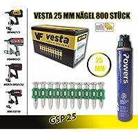 Vesta clavos C5 – 25 mm Gas Clavadora, Würth Diga CS de 2, Dewalt