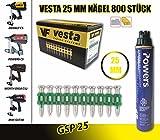 Vesta, chiodi C5-25 mm per chiodatrice a gas, Würth DIGA CS-2, DeWalt C5, Powers C5, maxGS73