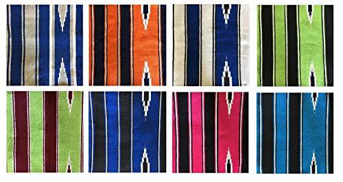NETPROSHOP Navajo Western Satteldecke aus Baumwolle, Farbe:Orange/Dunkelblau