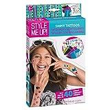 Style Me Up - Glitzertattoo Set für Mädchen - Kindertattoos mit Schablonen zum Selber Machen - SMU-551