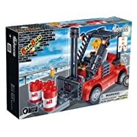 JJays Store Fits With All Leading Brands BanBao Building Brick Construction Toy 128 Piece Forklift Suitable for Boys, Girls, Kids, Children Ages 4 Plus