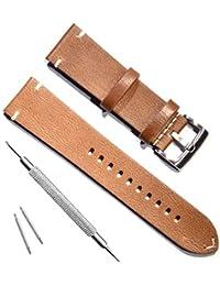 Correa piel de repuesto hecha a mano para reloj.
