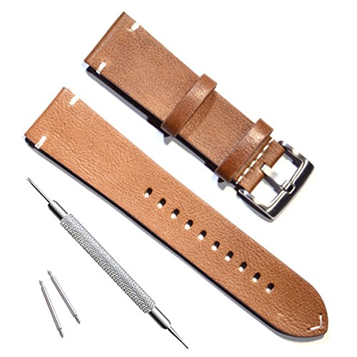 Ersatz-Uhrenarmband, handgefertigt, Vintage-Stil, Leder (Olive Uhrenarmband Leder)