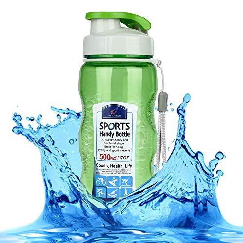 ZUHN 500 ml Wasserflaschen Kunststoff Sport für tragbare Reise Sport Tee Wasser Siegel Flasche Reiseflaschen,1 -