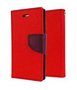 Mercury Goospery Fancy Diary Wallet Flip Cover Case for Xiaomi Mi Pad - Red