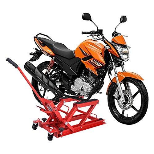 COSTWAY 680KG Motorradheber hydraulische Motorradhebebühne Motorradbühne