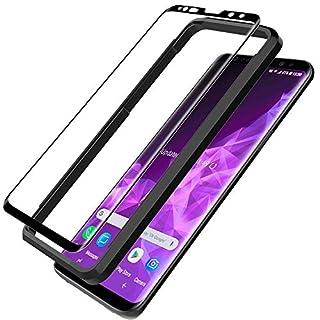 L K Schutzfolie für Samsung Galaxy S9, S9 Panzerglas [9H Härte] [3D Abgerundete][Vollständige Abdeckung] [Einfache Installation] [Hüllenfreundlich] Gehärtetem Glas Displayschutzfolie - Schwarz