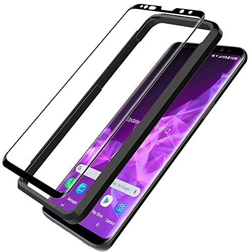 Lcd-touch Screen Protector (L K Schutzfolie für Samsung Galaxy S9, S9 Panzerglas [9H Härte] [3D Abgerundete][Vollständige Abdeckung] [Einfache Installation] [Hüllenfreundlich] Gehärtetem Glas Displayschutzfolie - Schwarz)