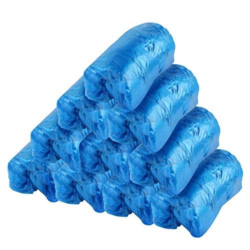 Copriscarpe usa e getta, 200 pz copriscarpe usa e getta in plastica per la casa in cucina attico cantinehotel laboratory, copriscarpe monouso blu è resistente alla polvere e durevole