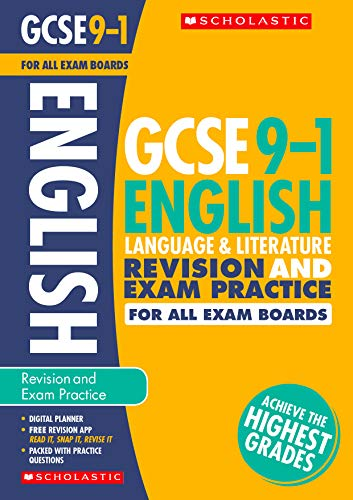 English Language and Literature Revision and Exam Practice Book for All Boards (GCSE Grades 9-1)