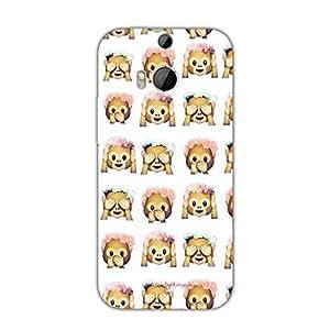 Designer Cute Phone Cases for HTC M8-Monkeys