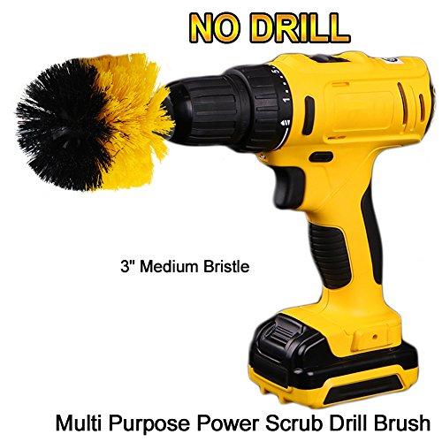 oxoxo Power Scrubbing Brush Bohr accessorio per la pulizia di doccia, vasca, badezimmern, Piastrelle, fugenm?rtel, Tappeto, pneumatici, imbarcazioni 3'/7,6 cm Orange