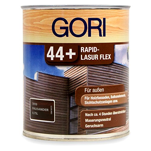 0,75L Gori 44+ 7810 Palisander Rapid-Lasur Flex Außenlasur Holzlasur (Flex Bindemittel)