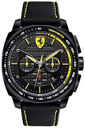 Ferrari Hommes Chronographe Quartz Montre avec Bracelet en Silicone 0830165