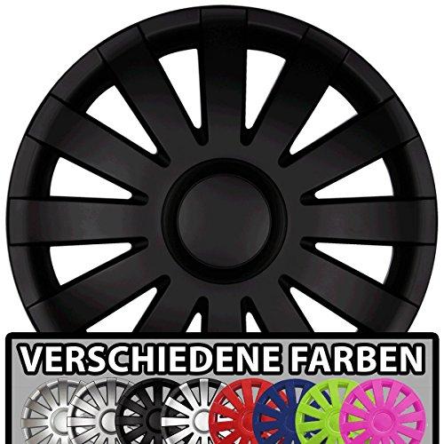15 Zoll Radkappen / Radzierblenden AGAT Matt Schwarz passend für fast alle Fahrzeugtypen (universal)