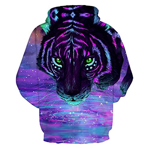 Hoodie tigre&Hommes Femmes Sweatshirts Sweatshirts Impression 3d Hip Hop Harajuku Automne Pull Survêtements Sweats Tops lâche Outwears Tiger
