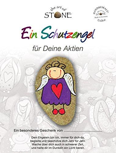 The Art of Stone EIN Schutzengel Deine Aktien - Unikat Naturstein handbemalt Geschenkidee Handschmeichler Mutmacher Trostspender und Glücksbringer