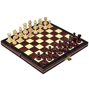Continental portátil magnético-Juego de ajedrez Hecho a Mano en Polonia, tamaño pequeño