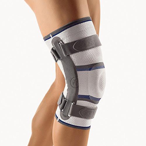 BORT Stabilo® Kniebandage mit Gelenk, Farbe silber XXXL plus rechts