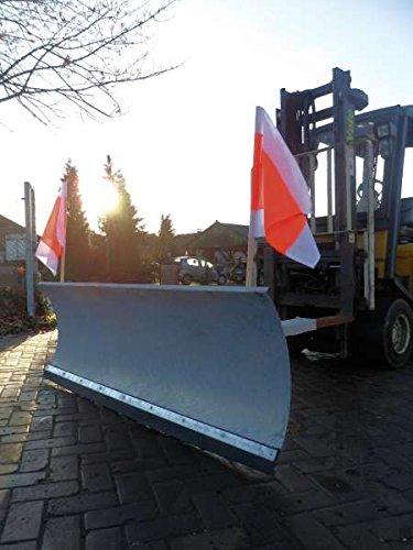 Schneeschild verzinkt 200cm Gabelstapler verstellbar Schneeschieber Räumschild