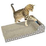 AOLVO Best Cat, tiragraffi in sisal tiragraffi Cartone Pad Tappetino con Gatto interattivo Teaser Toys, Cat Scratch Post per Gatti e Gattini–Satisfty Cat Nature–Molare Gatto Artiglio & Denti