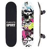 NACATIN Skateboard Completo para Adultos y Niños con...