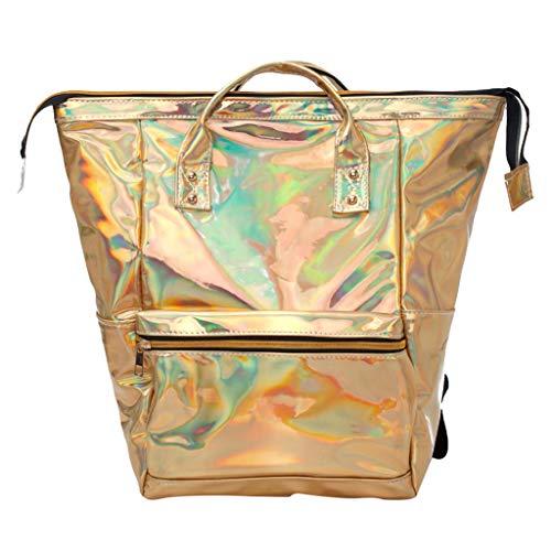 iHAZA Frauen Reisen Schulter Tasche Mode Mädchen Laser Schulranzen Rucksack Aus Leder