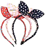 Vinay Sales Rabbit Ears Multicolour Plastic Baby Girl's Hairband Pack of 3