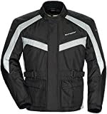 TourMaster Saber 4.0 Men's 3/4 Outer Shell Textile Motorcycle Jacket (Silver/Black, Large)