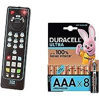 Lot Infinifun - Télécommande bilingue - S13880 + Duracell Ultra Power Piles Alcalines Type AAA, 8 Piles