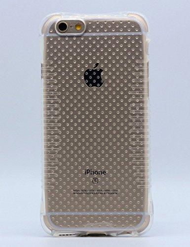 iPhone 6 Plus Stoßfeste Schutzschale, iPhone 6S Plus Schutzhülle, Hamyi Gradient Steigung Farbe Rutschfest Weich Flexibel Stoßdämpfung Schale für iPhone 6 Plus und iPhone 6S Plus (5,5 Zoll) (Blau) Transparent