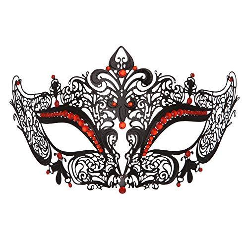 Mardi Gras Themen Kostüm - Masquerade Mask Augenmaske Hochwertige metall eisen maske weibliche schönheit mädchen hohl halb gesicht damen prinzessin maske mode nachtclub partei cosplay maskerade maske Halloween Mardi Gras Gesich