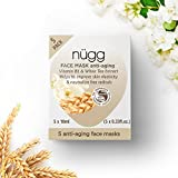 Nugg Beauty Anti Aging Mask for Youthful Skin with Vitamin B3 and White Tea Extract - 5 Pack of Single Use Face Mask Pods