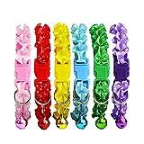 Leisial 12 Stücke Hundehalsband mit Glocke Katzenhalsband Polyester Hundehalsband Für Kleine Hund 21-34CM Geeignet für Hunde und Katzen 2-6 KG 6 Farben