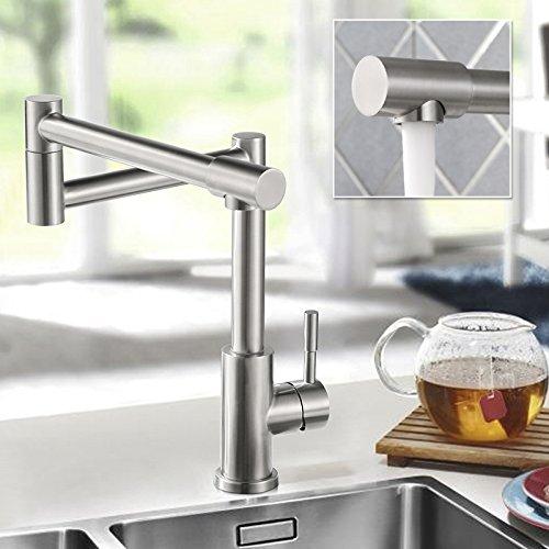 Homelody – 720° drehbare Küchenarmatur aus Edelstahl - 7