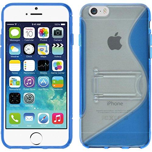 Coque en Silicone pour Apple iPhone 6s / 6 - rose chaud - Cover PhoneNatic Cubierta Case Bleu