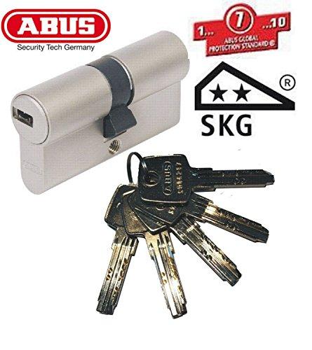 ABUS EC550 PERFIL-DOBLE CILINDRO LONGITUD 50/50 MM CON LLAVE{4}