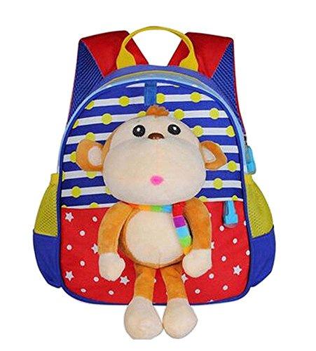 Preisvergleich Produktbild Cute Animals Form Kinder Rucksack für die Schule Wandern Camping Affe