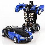leegoal Transform Robot Car Transformation inerzia Auto Mini Auto deformazione Robot Giocattolo Robot Veicolo per Bambini Blue