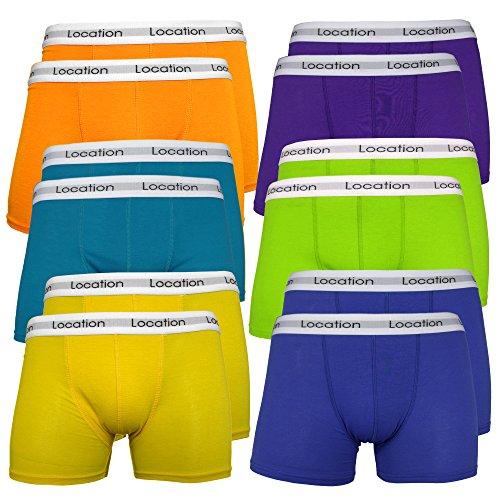 Boxer da uomo (pacco da 12) boxers da uomo traspiranti attillati patta con bottone cotone elasticizzato colori assortiti - daytona2 (12er pack) - medium ( waist 30 - 32 )
