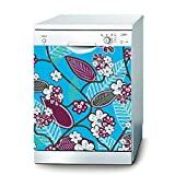 Decusto-Mallow Flowers Wandtattoo für Spülmaschine