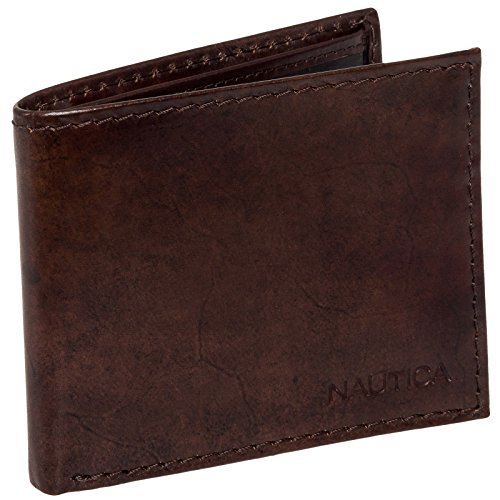 nautica-mens-leather-tuck-bifold-billfold-wallet-brown