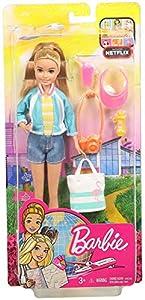 Barbie Vamos de viaje, muñeca con accesorios (Mattel FWV16)