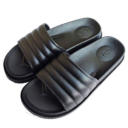 DogHaccd pantofole,Estate acqua piatta trapano pantofole, inserire le punte europea e americana anti-slittamento piatti casual scarpe da spiaggia con fondo morbido cool pantofole Nero1