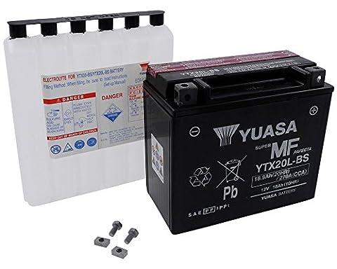 Battery YUASA - YTX20L-BS maintenance-free for KAWASAKI KAF620, Mule 3000, 3010, 3020 620 ccm