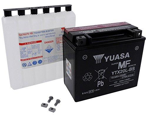 Batterie YUASA - YTX20L-BS wartungsfrei für YAMAHA XVS13AY V Star 1300, Stryker 1300 ccm Baujahr 09-13 [inkl. 7,50 EUR Batteriepfand] Stryker Batterie