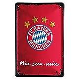 FC Bayern München Metallschild / Schild / Dekoschild Logo FCB - plus gratis Aufkleber forever München
